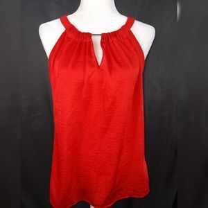 Outback Red Large Blouse Key Hole Neck
